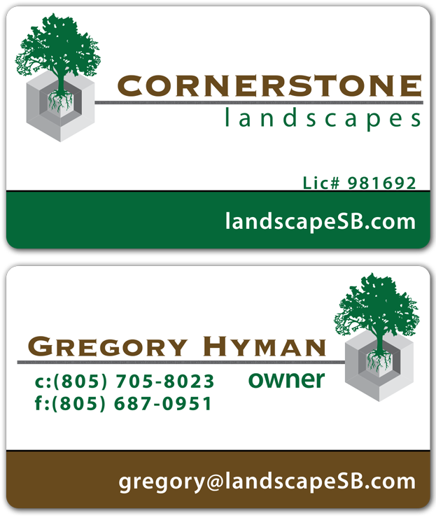 Cornerstone Landscapes Business Card Design