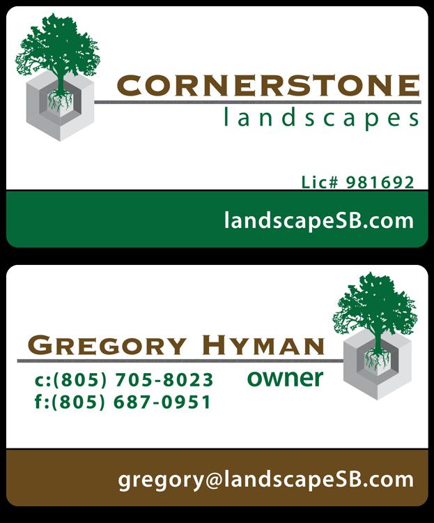 Cornerstone Landscapes Business Card Design