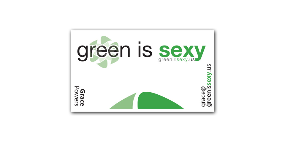 Green is Sexy Business Card